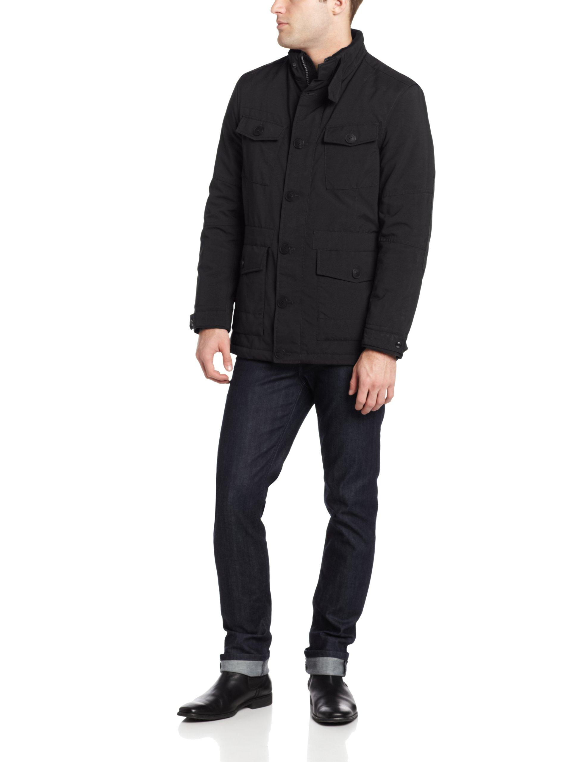 Marc New York by Andrew Marc Men's Oak Coat, Black, Large