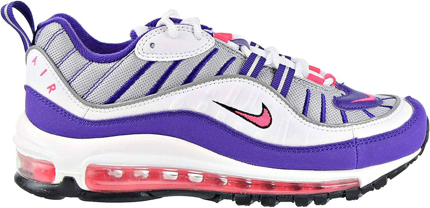 Nike Air Max 98 - Zapatillas de running para mujer, Blanco (White / Racer Pink-reflect Silver-black), 35 EU: Amazon.es: Zapatos y complementos