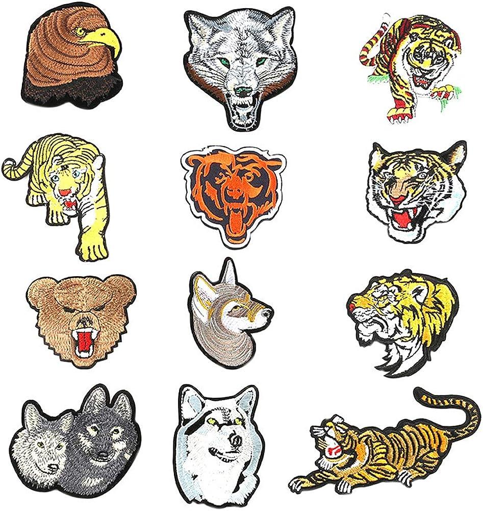 12 parches bordados con diseño de animales del cómic para la ...