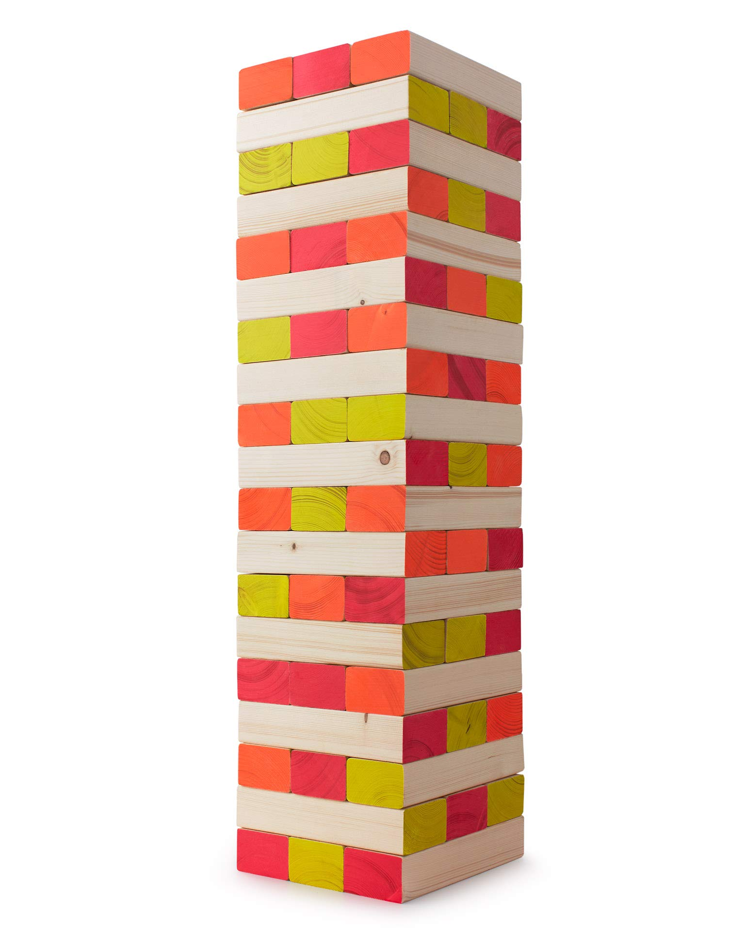 Limelight Games Ultimate Black Light Giant Tumbling Tower - Entertain Your Large Group Day Or Night - Glowing Blocks - Premium Carrying Case - Precision Milled Wooden Stacking Block Set by Limelite Games (Image #3)