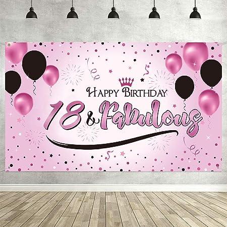 Jahrestag Hintergrund Banner Hintergrund Happy Birthday Extra Großes Gold Zeichen Plakat Hintergrund Banner Happy Birthday Jahrestag Foto Geburtstag Party Dekorationen Pink 18 Jahre Alt Spielzeug