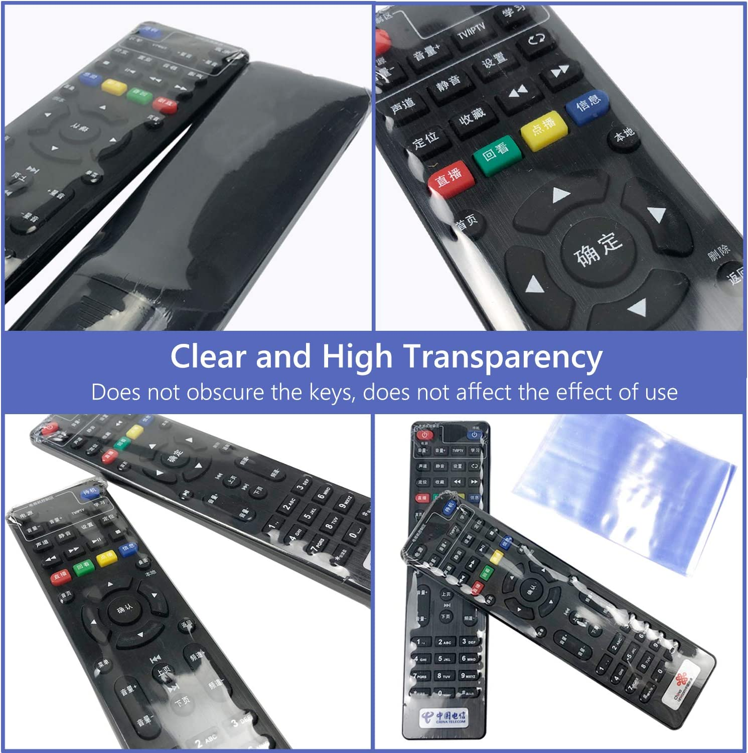 100 PCS Shrink Wrap Bags for TV Remote Control,2.7 x8 Inches Clear PVC Heat Shrink Universal Protective Film,Dustproof and Waterproof Protective Case Cover for Air Condition Video TV Remote