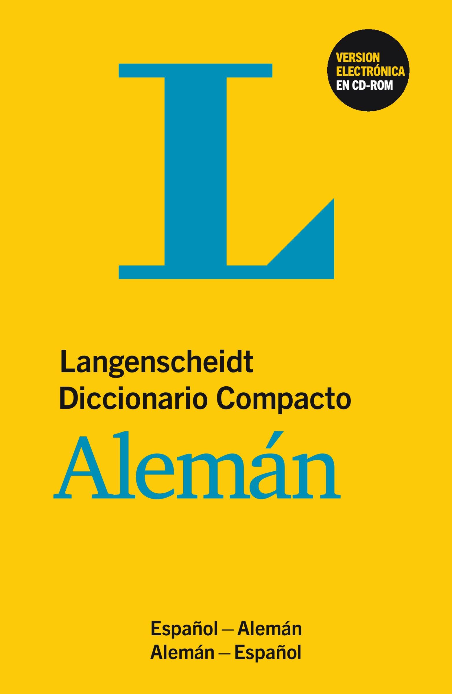 Langenscheidt Diccionario Compacto Alemán   Buch Und CD ROM  Deutsch Spanisch Spanisch Deutsch
