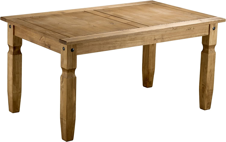 Birlea Corona 5ft Dining Set (Table & 4 Chairs), Waxed Pine