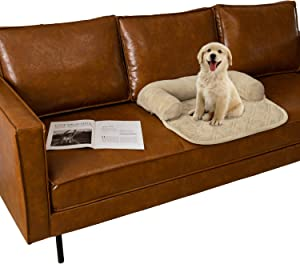 Ameritex Pet Dog Bed Coral Fleece Furniture Cover with Anti-Slip Back Suitable for Bed and Sofa Super Soft