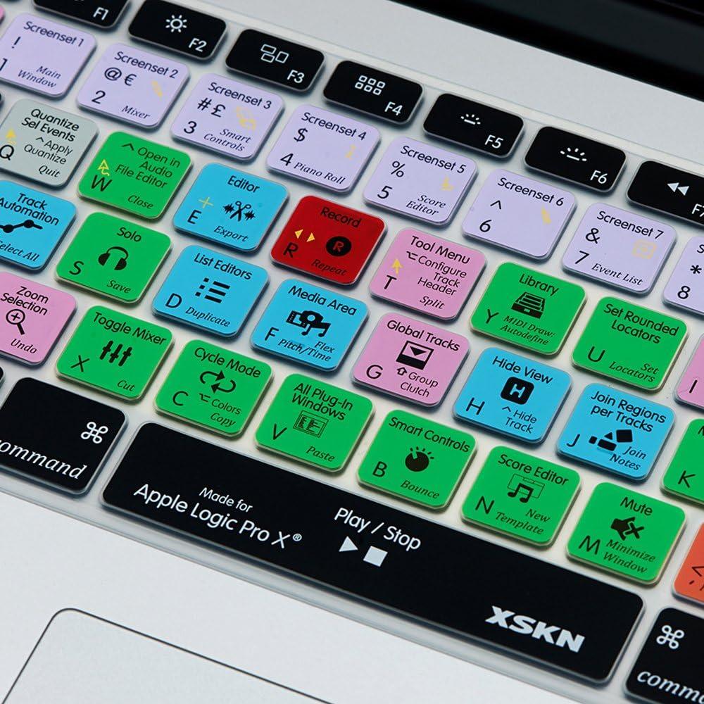 Macbook Pro 13 15 17 Retina Xskn Logic Pro x 10 Silicone Keyboard Skin Cover for Macbook Air 13 US /& European ISO Keyboard