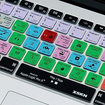 MMDW Logic Pro X dise/ño de teclado europeo o estadounidense con o sin pantalla Retina de silicona para MacBook Air de 13 pulgadas Funda de teclado para MacBook Pro 13 15 17