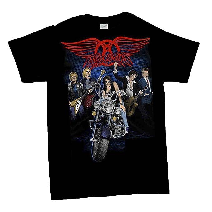 Amazon.com: Aerosmith – dibujar la línea camisa: Clothing