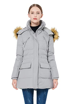 8d8b41846f877 Amazon.com  Orolay Women s Thickened Down Jacket Winter Coat Black ...