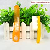 Newborn Baby Comb and Soft Brush Set – Grooming Hair Care Products for Babies & Infants