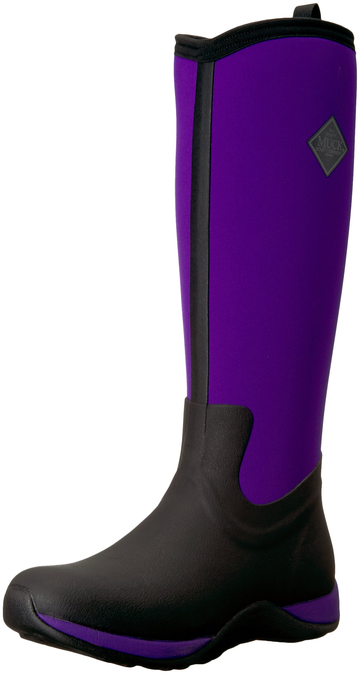 Muck Arctic Adventure Tall Rubber Women's Winter Boots, 6 M US, Black/Purple by Muck Boot