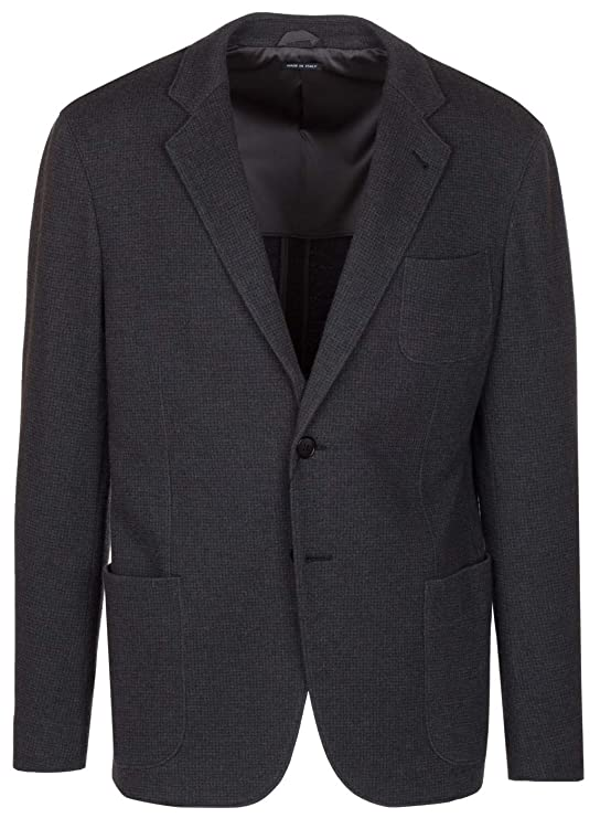 GIORGIO ARMANI Men's Dark Gray 100% Wool Upton Blazer Sport Coat Jacket, Gray, EU 56 / US XXL