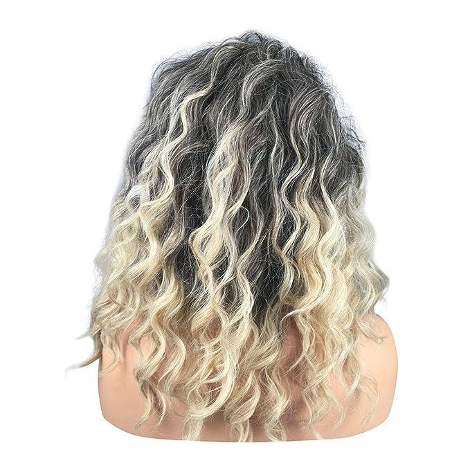 peluca de mujer cabello Largos movido Invierno. Azul: Amazon ...