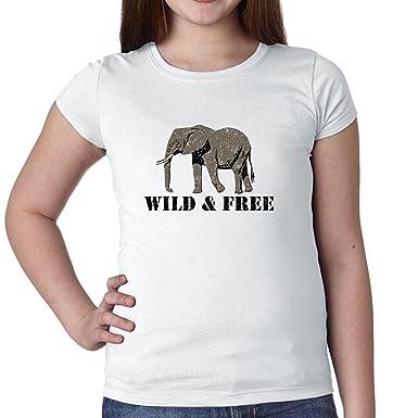2afe7bebb Hollywood Thread Elephant Wild   Free - Save The Elephants Girl s Cotton  Youth T-Shirt