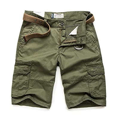 2788b4e00b GARMOY Men's Cargo Shorts Solid Multi Pockets Twill Fit Breathable Summer  Loose Fit Shorts