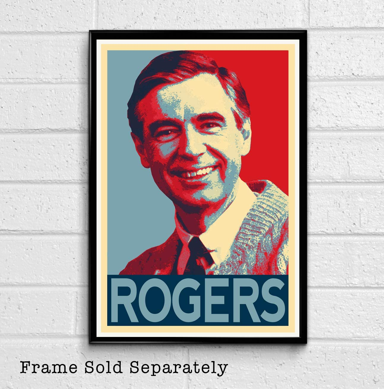Amazon Com Nlopezart Mr Rogers Illustration Pbs Television Icon Fred Rogers Pop Art Home Decor Poster Print 11x17 Inches 11x17 Inches Posters Prints