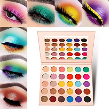 Pink Eyeshadow Palette Makeup,Matte Shimmer 30 Colors,Bright Colorful Eye  shadow,Glitter