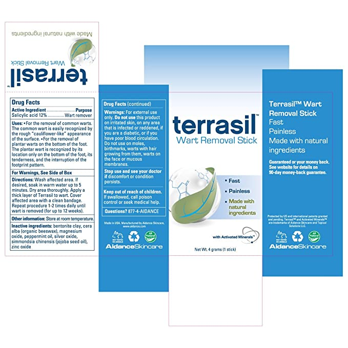 Terrasil Wart Removal Stick (1 stick)