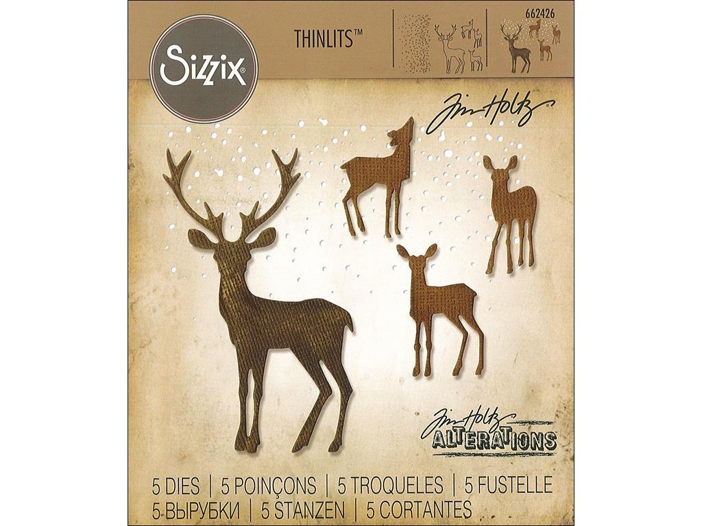 Sizzix 662426 Fustelle Thinlits Set 5 Pezzi-Natale delle Meraviglie di Tim Holtz, Acciaio,, 19.1x14.4x0.4 cm Ellison SIZ662426