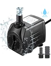 Zaeel mini pompe à eau, Submersible pompe à eau 25w 1800L/H 220V 1.5m Submersible 3 Buses Brushless Moteur Pompe Ajustable pour les Fontaines de Table Aquarium Pond Water Gardens et Hydroponic Systems