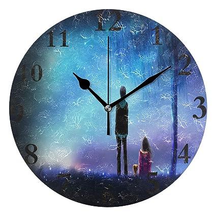 Amazoncom Wall Clock Meteor Love Anime Wallpaper Silent