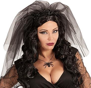 Halloween Gothic Braut Schleier schwarz Witwenschleier Witwe Schleier Gothik