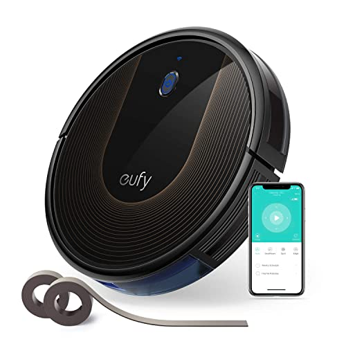 Eufy [BoostIQ RoboVac 30C, Wi-Fi, Upgraded, Super-Thin, 1500Pa Strong Suction, 13 ft Boundary Strips Included, Quiet, Self-Charging Robotic Vacuum Cleaner, Cleans Hard Floors to Medium-Pile Carpets