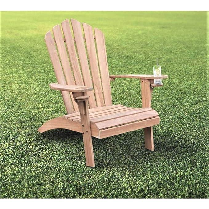Amazon.com: JEFSHOP - Silla de madera de amontonaje de teca ...
