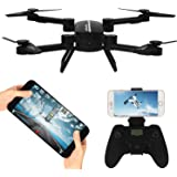 RC Drone with Camera FPV Fold Remote Control/Cell Phone RC Quadcopter Alititude Hold Gravity Sensor Helicopter With 0.3MP HD Camera RC Toy Drones