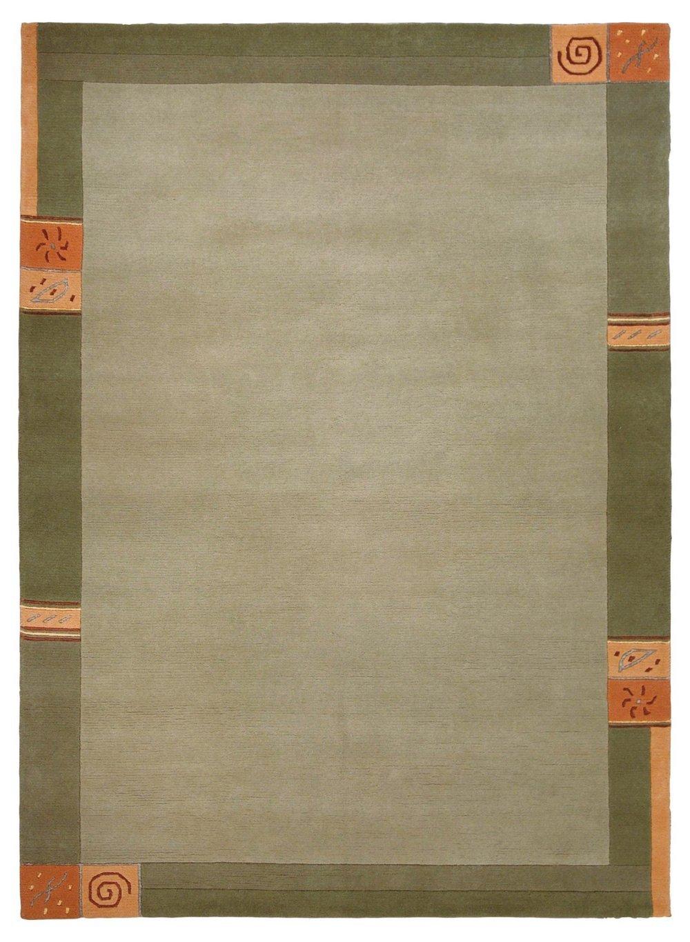 Sona-Lux Nepal Teppich handgeknüpft grün