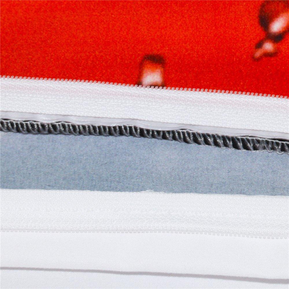 2 Pillowcases Queen HomeBlove Basketball Print Duvet Cover Sets Twin//Full Size for Teen Kids Polyester 3-Piece 3D Bedding 1 Duvet Cover
