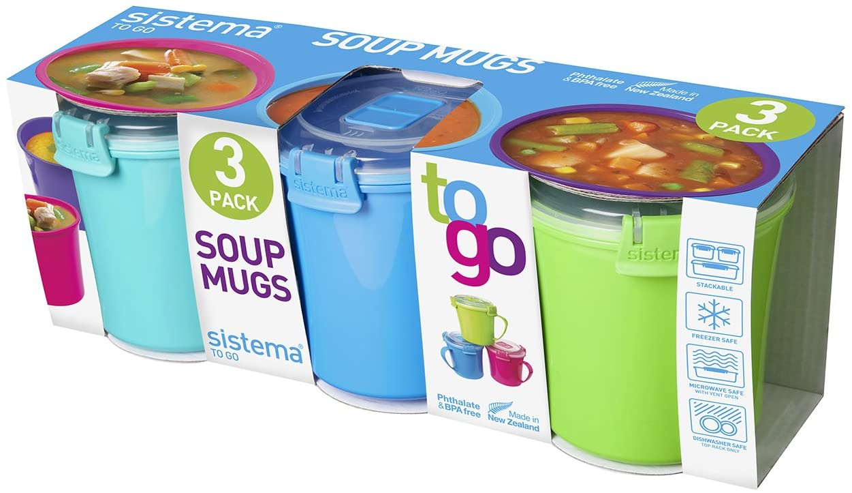 Sistema Set Of 3 Soup Mugs