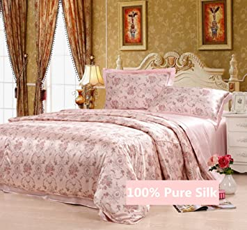 LilySilk 1002-06-USQN 19 Momme Silk Duvet//Quilt//Comforter Cover Queen Silver Gray 87 x 90