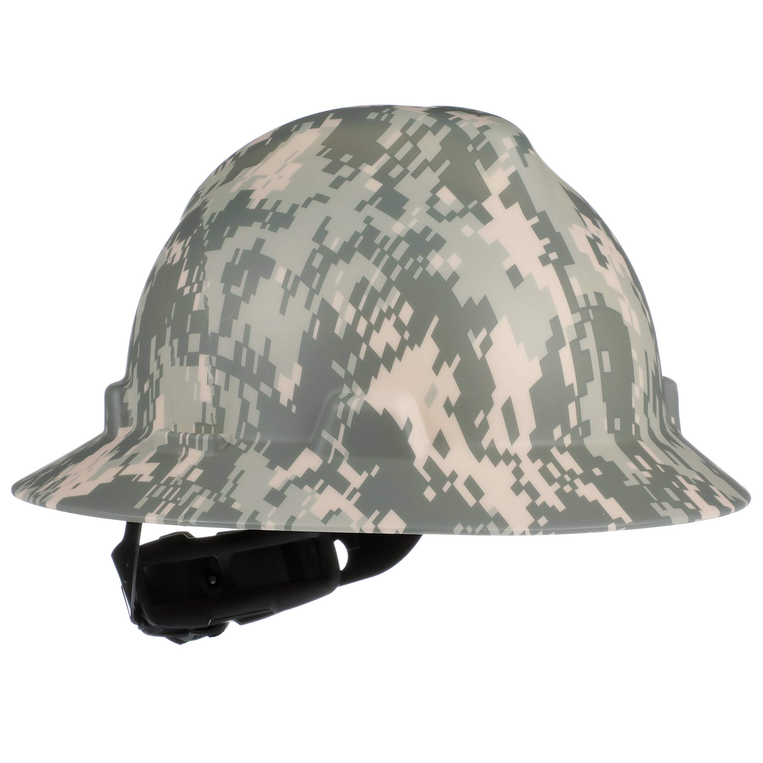 MSA 10104254 V-Gard Slotted Full Brim Hard Hat,  with 4-point Fas-Trac III Suspension, Standard, Camouflage by MSA
