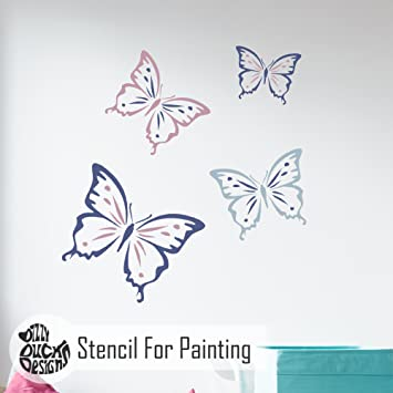 CLARA SCHMETTERLING Möbel Wand Schablone für Malereiing - Mittel ...