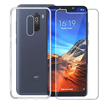 SOCINY Xiaomi Pocophone F1 Case with Screen Protector, (2 in 1 ...