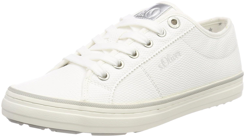 s.Oliver 23640, Zapatillas para Mujer 42 EU|Blanco (White/Silver)
