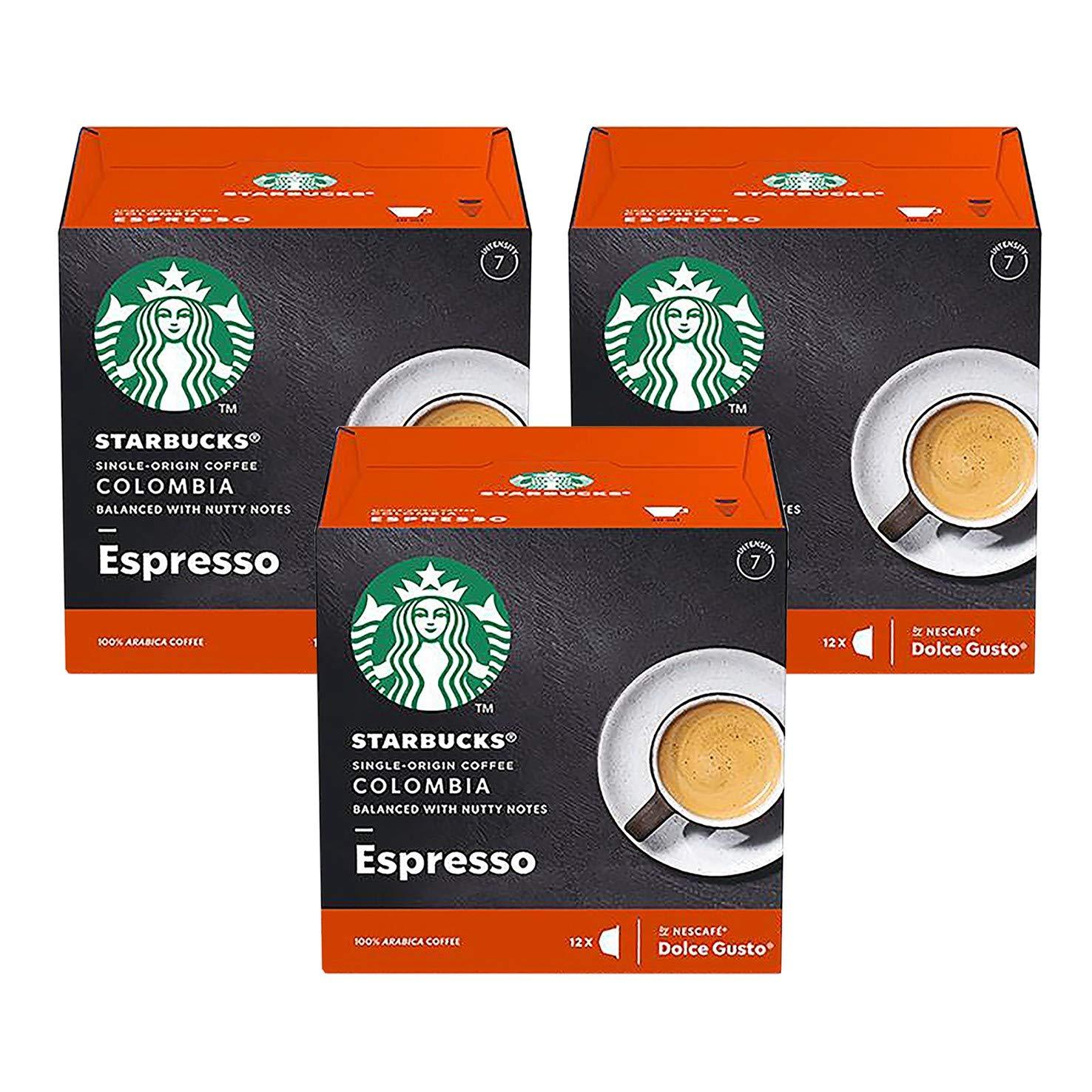Nescafe Dolce Gusto Starbucks Colombia Espresso x 3 Boxes (36 Capsules) 36 Drinks