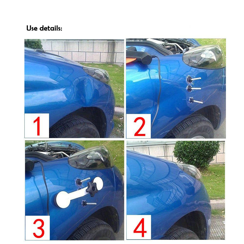 Eagle Car Body Dent Bridge Puller Repair Kit + Hot Melt Glue Gun with Hot Melt Glue stick For Car Body Dent Repair