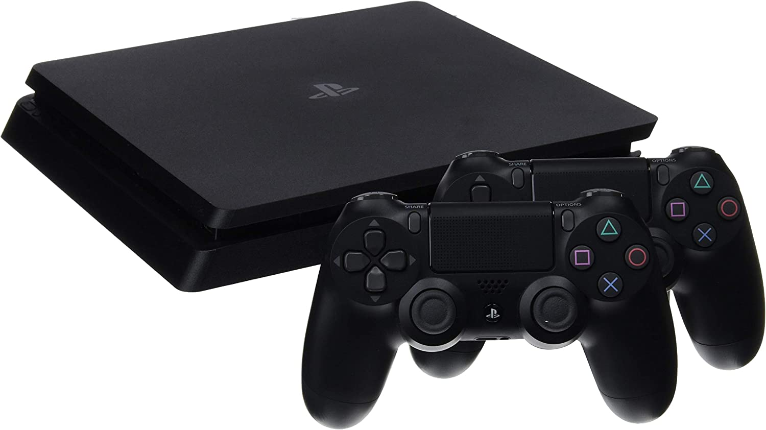 PlayStation 4 (PS4) - Consola de 1 TB + 2 Dual Shock 4 Wireless Controller - nuevo chasis