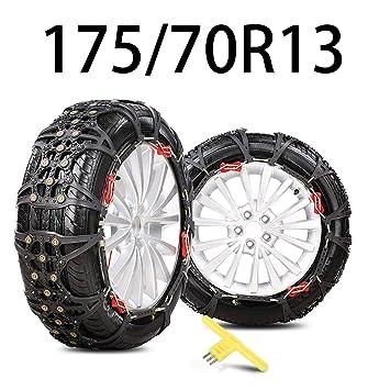 HEIFEN Cadena de Nieve para automóvil Antideslizante Moto de Nieve Universal Neumático para automóvil Sección Transversal para emergencias 165-175 Modelos ...