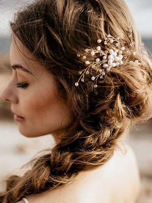 Adorno para el cabello, para bodas, estilo vintage, con piedras brillantes