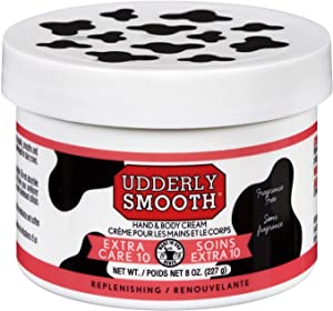 Udderly Smooth Extra Care Cream with 10% Urea, 8 oz (2 Count), Unscented