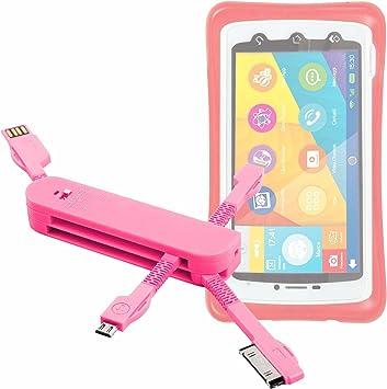DURAGADGET Multi-Cargador Rosa para Smartphone para niños ...