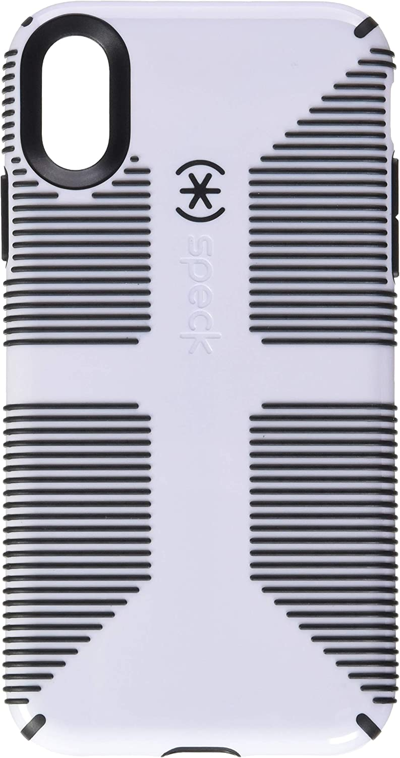 Speck Products CandyShell Grip iPhone XR Case, White/Black