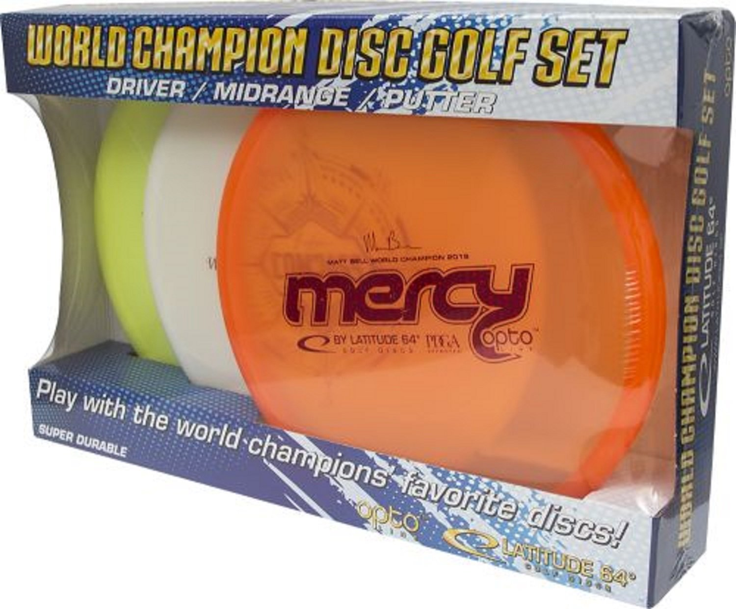 Latitude 64 Opto Line 3 Sheets Putter Midrange Driver – World Champion Disc Golf Set