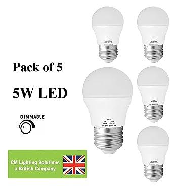 5 W regulable bombilla LED Mini Globe, E27 rosca Edison ES Extra blanco cálido 420