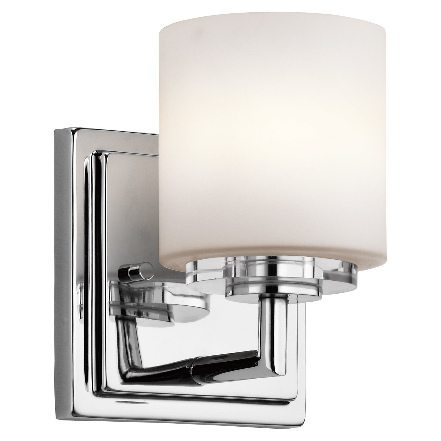 Kichler 45500CH O Hara Wall Sconce 1 Light Halogen, Chrome     Amazon.com