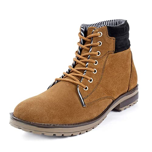 22f07200391b Bacca Bucci Men TAN Suede Leather Boots  Buy Online at Low Prices in India  - Amazon.in