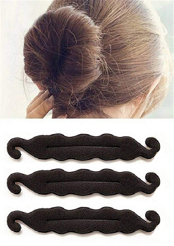 Ekan Hair Juda Bun Maker, Hair Sponge Foam Styling Tool Set of 3, Black, 20 Gram Pack of 1 (Bun Maker Tool) product image